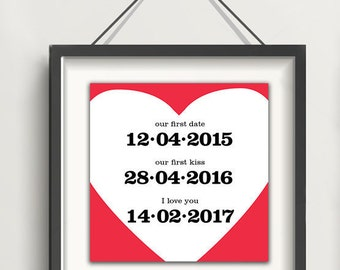 Personalized Valentine's Day; Anniversary Gift, Gift for Him, Gift for Her, Wedding Gift, Bride to Groom, Groom Present, Bride Gift