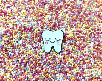 Sweet Tooth Pin - Dental Nurse Gift - Dentist Gift - Tooth Gift - Dental Hygienist Gift - Tooth Pin - Dental Gifts - Dental Graduation Gift