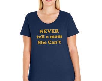 Womens Plus Size Tee Mom Graphics
