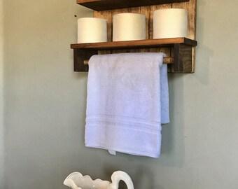 Farmhouse Style, Rustic Home decor, Farm House Bathroom rack, Farm House Towel Rack, Country Decor, Country Towel Rack, Rustic Bathroom