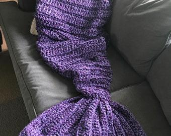 Mermaid Tail Blanket Mermaid Blanket Crochet Blanket Knit Mermaid Blanket