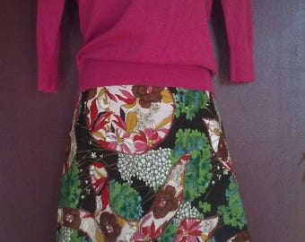 Recycled Fashion - upcycled, Multi Prints Skirt size 10