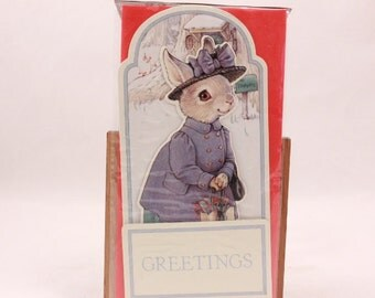 Kathy Lawrence Hopper Family Pulldown Pop Up Greeting Card. Shackman. Sealed 8491