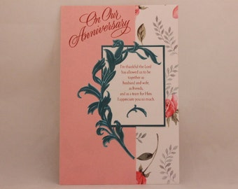 New! Vintage Wife Wedding Anniversary by DaySpring. 1 Card and Envelope.