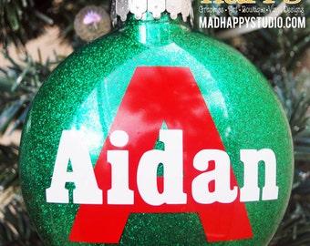 Personalized Name Glitter Ornament