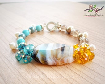 CLEMENTINE Agate, Smoky Quartz & Turquoise