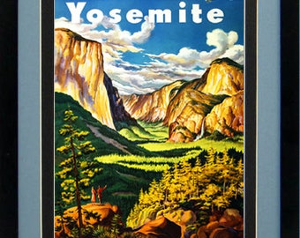 Yosemite National Park Poster Custom Framed A+ Quality