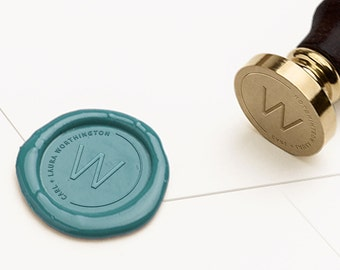 Personalized Wax Seal Stamp, Custom Wax Stamp, Wax Seal, Wedding Seal, Custom Wax Sealing, Wedding Invitations, Wedding Stamp (WMONO118)