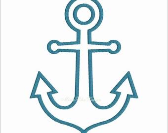 Anchor Applique Design Nautical Anchor Machine Embroidery Design Instant Download