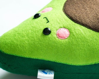vegan avocado, Baby avocado pillow, avocado plushie