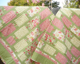 Pair of twin bed quilts
