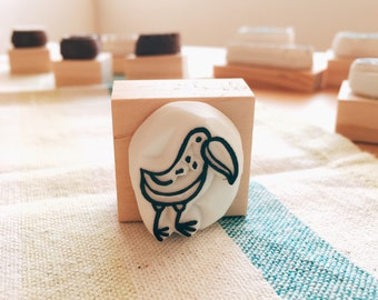 Toucan rubber stamp.toucan hand carved rubber stamp.toucan stamp.aves stamp.bird stamp.