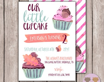 PRINTABLE- Our Little Squirrel Birthday Invite - Squirrel Birthday - Woodland Birthday Invite- Autumn Birthday - Front & Back- 5x7 JPG