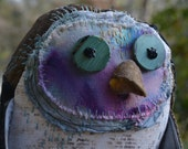 Nogbert, stuffed owl handmade art doll
