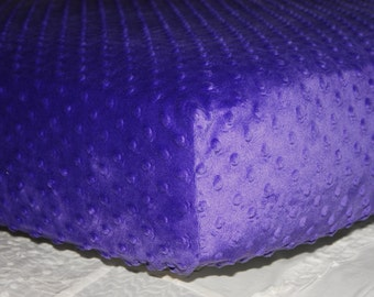 Purple Minky Dimple Dot Fitted Crib Sheet, Toddler Bed Sheet