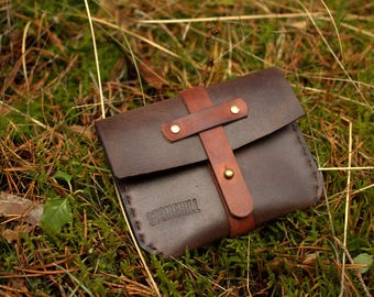 Leather wallet Simple leather wallet Card holder Free shipping