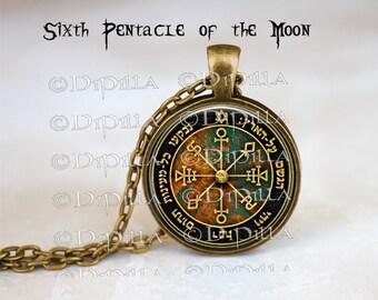 Sixth Pentacle of the Moon King Solomon