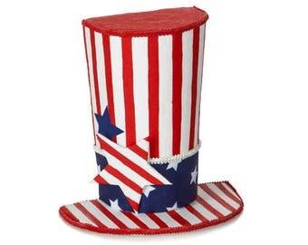 Uncle Sam Top Hat/Patriotic Top Hat/Wreath Kit/Wreath Supplies/Patriotic Decor/30020125