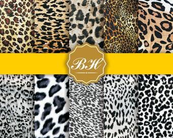 Animal Prints Digital Paper, Animal Fur Backgrounds, Animal Skin Textures, Animal Skin Background, Scrapbooking Paper, Instant Download