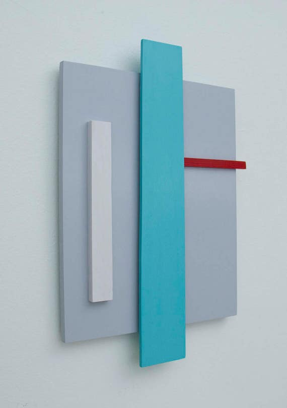 Original 3-Dimensional Abstract Wall Sculpture   Abstract Wall Art   Minimalist Art   Geometric Art