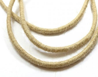 Twisted braided rope beige 5mm per meter