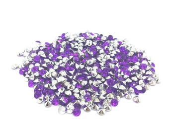 520 dark purple 4mm acrylic rhinestones