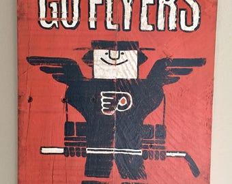 "Philadelphia Flyers ""Freddy Flyer"" Sign"