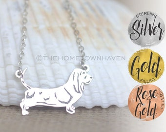 Basset Hound Necklace - Small dog breed jewelry