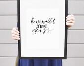 Keys, Wallet, Phone, Kiss   8x10 print   Black & White Print