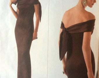 Gorgeous Evening Gown Pattern---Vogue 2773 by Oscar de la Renta---Size 18-20-22 UNCUT