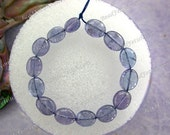 14 Tanzanite Beads, 5 to 6mm Natural Undyed Flat Oval Tanzanite Beads, Gemstone Beads, Semi Precious Stone Beads GEM-005-3
