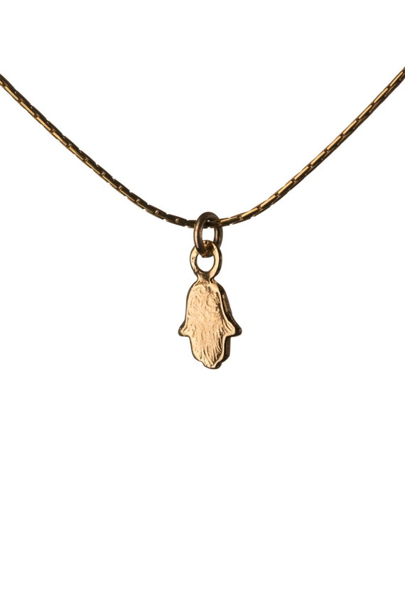 Hamsa Necklace Dainty Gold Filled Necklace Pendant Evil Eye Jewelry Free UK delivery + Gift Box + Gift Bag GP1