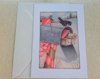 Vintage Hallmark Christmas card ( unused)
