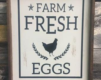 Farm Fresh Eggs Wood Sign 12 X 15