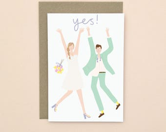 Illustrated Wedding Card A6