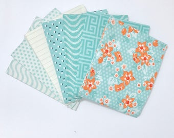 Fat Quarter Bundle Sweet Marion by April Rosenthal for Moda 24040AB - 7 Fabrics