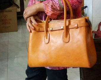 Hermina Leather Tote Bag