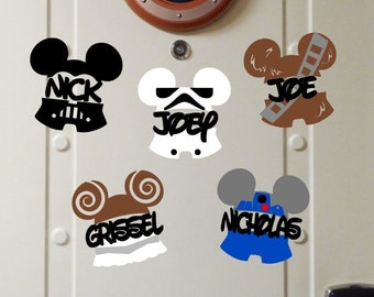 NEW!! Personalized Star Wars Themed - Disney Cruise Magnets