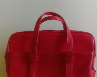 Red Samsonite Silhouette Carry-on Bag/Suitcase/Luggage.
