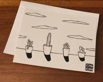 Succulents I - Hand Drawn Cards