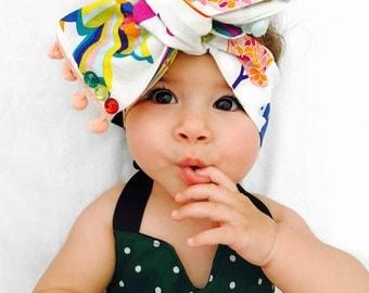 Aisha Rainbow and Unicorn Headwrap