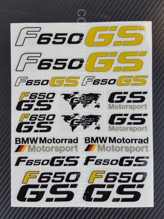BMW Motorrad FGS Decal Sheets Set Stickers Farirings - Bmw motorrad motorsport decals