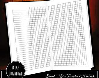 Habit Tracker Standard/Regular Size Traveler's Notebook Printable Planner Inserts