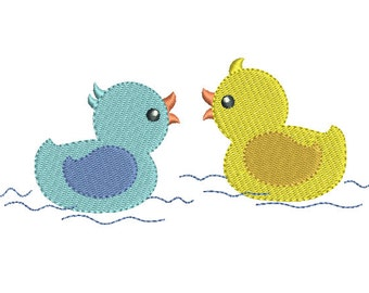Rubber Ducky Embroidery Design, Instant Download, Cute Fill Stitch Duckling Machine Embroidery Design, Sweet Baby Ducks, No: S546-2