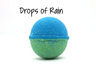 Drops of Rain Bath Bomb   Rain Goat Milk Bath Bomb