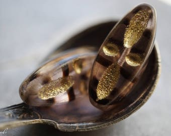 Golden Petals, Czech Beads, Beads, N1949