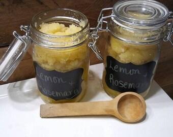 Lemon, Rosemary essential oils, Moisturizing, skin softening Sugar Scrub