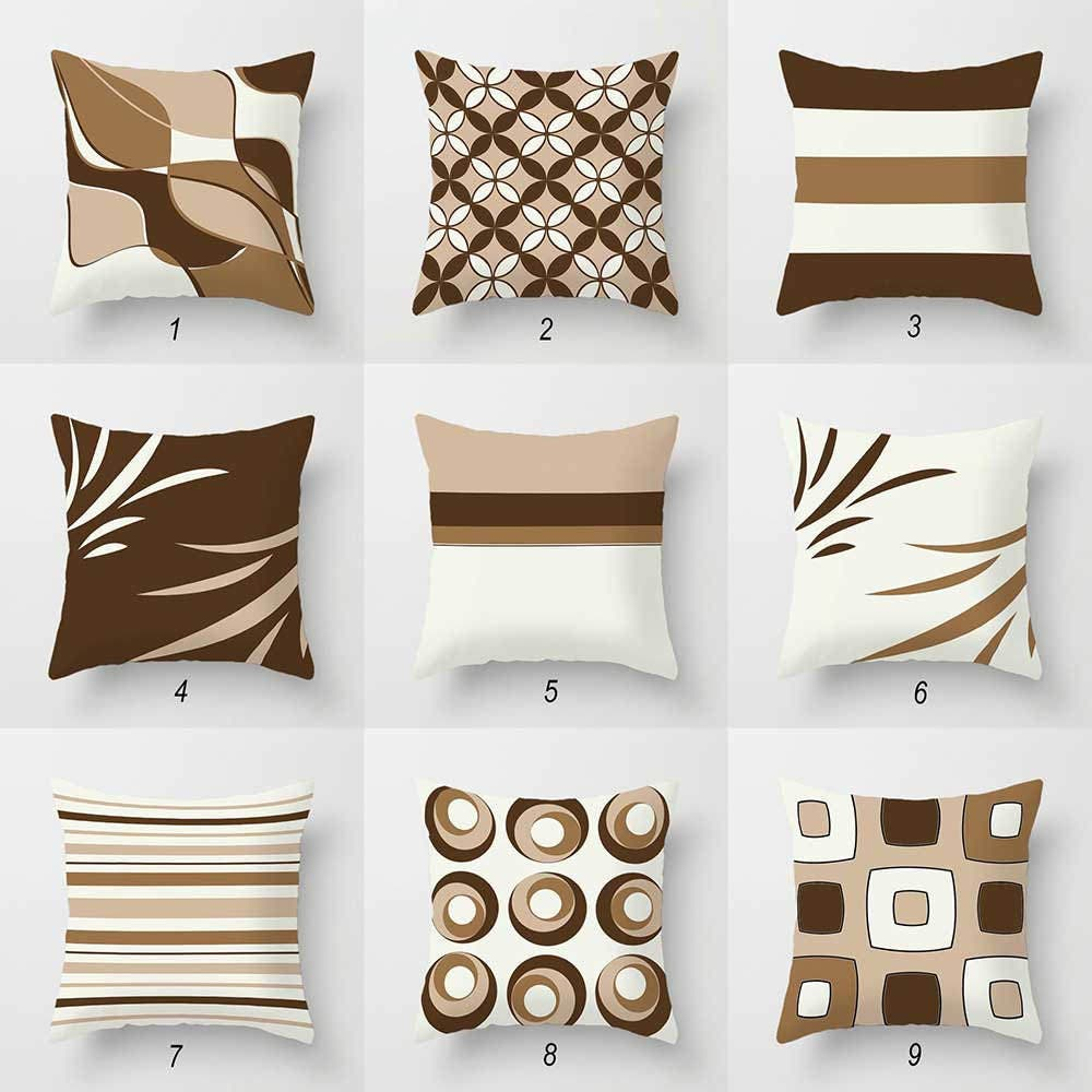 Throw Pillows For Off White Couch : Neutral Throw Pillows Beige Brown Pillow Covers Off White