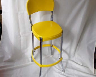 Vintage Metal Kitchen Stool
