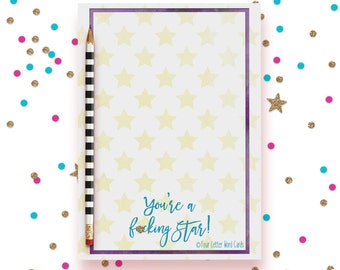 Mature, Star Stationery, Star Notepad, Star To Do List, Inspirational Notepad, Business Stationery, Colorful Notepad, Colorful Stationery
